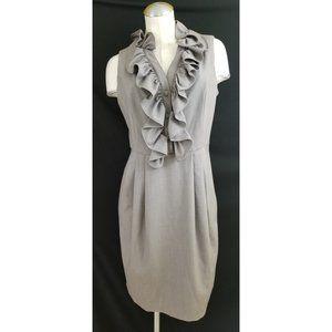 Dressbarn Size 12 Gray Dress Sleeveless Ruffles